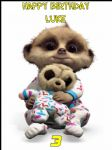A4 Baby Oleg The Meerkat Personalised Edible Icing or Wafer Birthday Cake Topper
